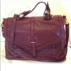 Tory Burch 797 large plum satchel